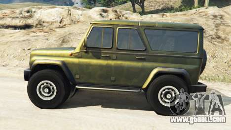 GTA 5 UAZ-3159 bars v2.0 left side view