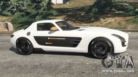 GTA 5 Mercedes-Benz SLS AMG Coupe left side view