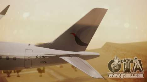 Embraer 170-100 Air Costa for GTA San Andreas back left view