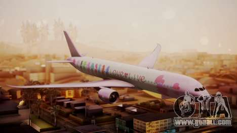 Boeing 787-9 LoveLive Livery for GTA San Andreas