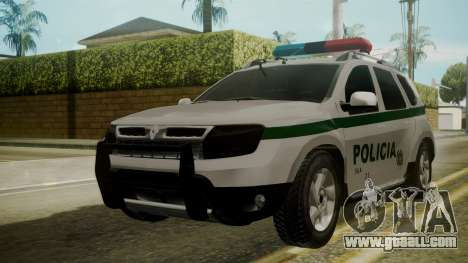 Renault Duster Patrulla Policia Colombiana for GTA San Andreas