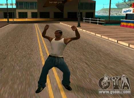 50 Animations v1.0 for GTA San Andreas third screenshot