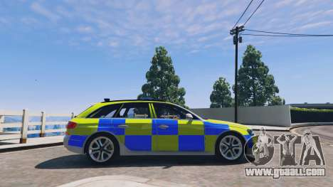 GTA 5 Audi A4 Avant 2013 British Police left side view