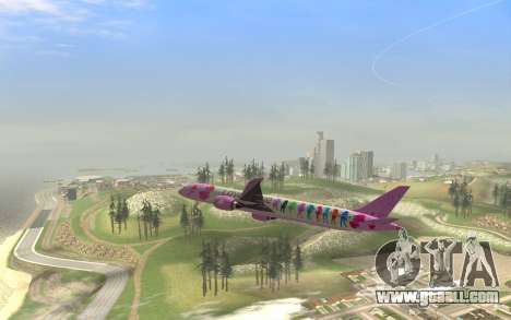 LoveLive Boeing 787-9 Livery for GTA San Andreas right view