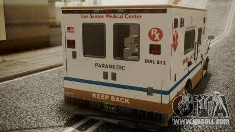 GTA 5 Brute Ambulance for GTA San Andreas back view