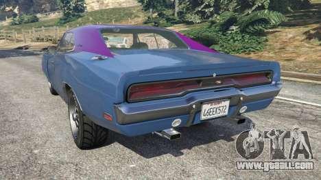 GTA 5 Dodge Charger RT 1970 v3.0 left side view