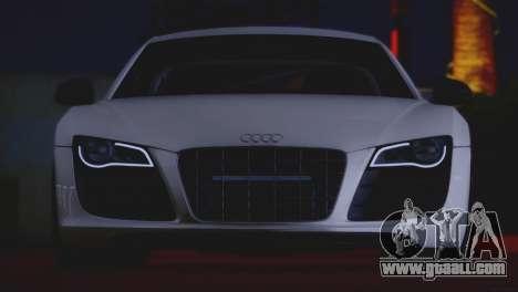 Audi R8 GT 2012 Sport Tuning V 1.0 for GTA San Andreas inner view