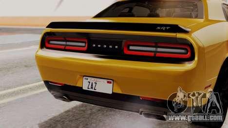 Dodge Challenger SRT Hellcat 2015 IVF PJ for GTA San Andreas upper view