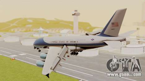 Airbus A380 Air Force One for GTA San Andreas left view