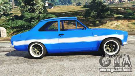 GTA 5 Ford Escort Mk1 v1.1 [blue] left side view