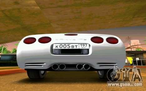 Chevrolet Corvette C5 2003 for GTA San Andreas right view