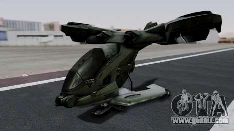 Hornet Halo 3 for GTA San Andreas left view
