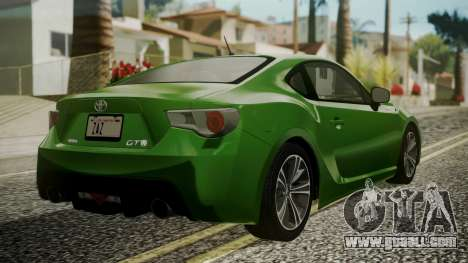 Toyota GT86 2012 for GTA San Andreas left view