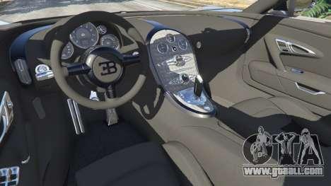 GTA 5 Bugatti Veyron Grand Sport v5.0 rear right side view