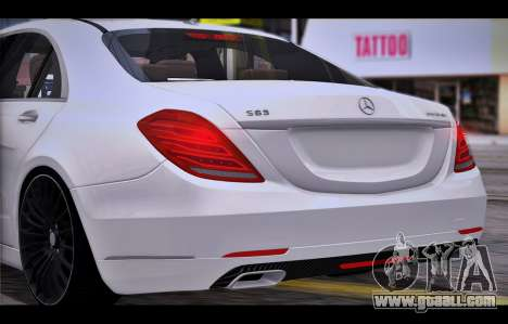 Mercedes Benz S63 W222 Quality Items for GTA San Andreas right view