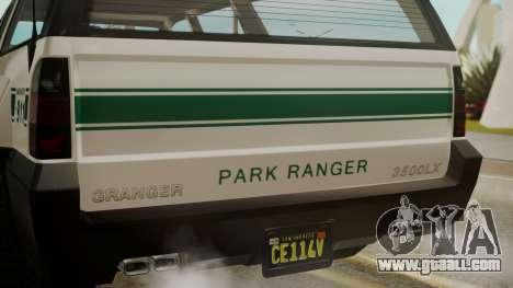 GTA 5 Declasse Granger Park Ranger for GTA San Andreas back view