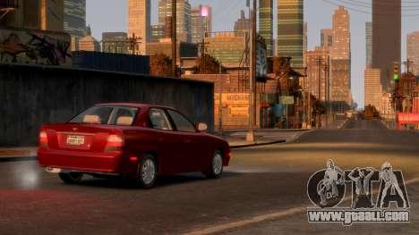 Daewoo Nubira II Sedan SX USA 2000 for GTA 4 back view