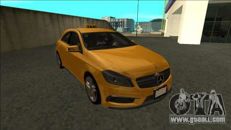 Mercedes-Benz A45 AMG Taxi 2012 for GTA San Andreas back view