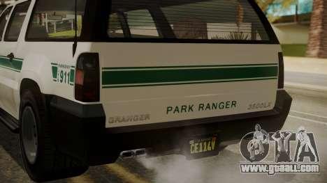 GTA 5 Declasse Granger Park Ranger IVF for GTA San Andreas upper view