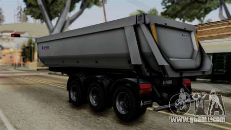 Schmied Bigcargo Solid Trailer Stock for GTA San Andreas left view