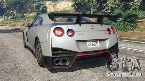GTA 5 Nissan GT-R Nismo 2015 v1.1 rear left side view