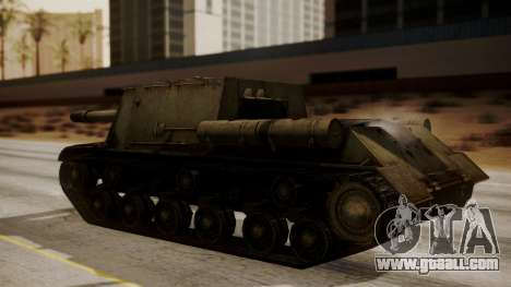 ISU-152 from World of Tanks for GTA San Andreas back left view