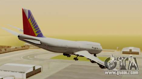 Boeing 747-8I Philippine Airlines for GTA San Andreas left view