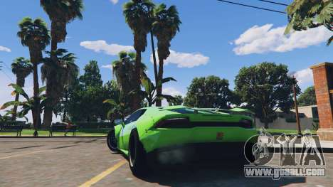 GTA 5 LibertyWalk Lamborghini Huracan rear left side view