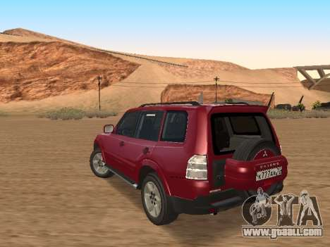 Mitsubishi Pajero for GTA San Andreas back left view