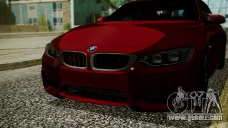 BMW M4 Coupe 2015 Walnut Wood for GTA San Andreas inner view