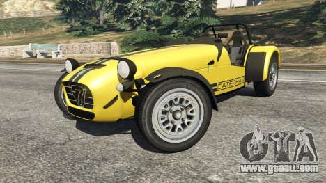 GTA 5 Caterham Super Seven 620R v1.5 [yellow] right side view