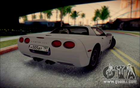 Chevrolet Corvette C5 2003 for GTA San Andreas inner view
