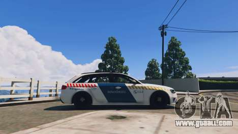 GTA 5 Audi RS4 Avant Hungarian Police left side view