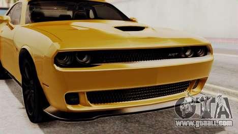 Dodge Challenger SRT Hellcat 2015 IVF PJ for GTA San Andreas inner view