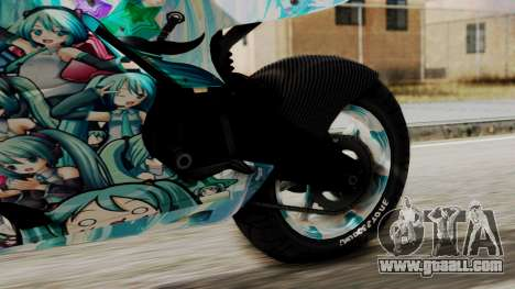 Bati Motorcycle Hatsune Miku Itasha for GTA San Andreas right view