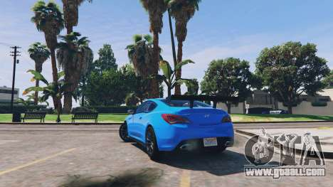 GTA 5 Hyundai Genesis 2013 v0.1 back view