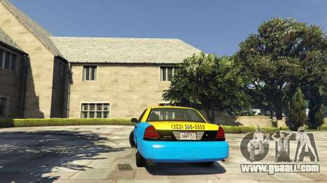 GTA 5 Ford Crown Victoria Taxi v1.1 rear left side view
