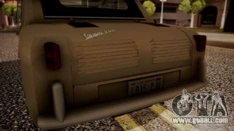 Vespa 400 1958 for GTA San Andreas back view