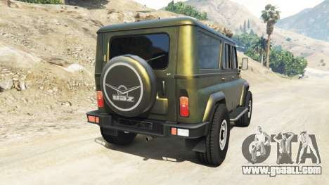 GTA 5 UAZ-3159 bars v2.0 rear left side view