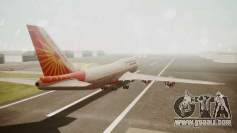 Boeing 747-8I Air India for GTA San Andreas left view