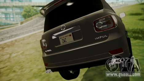 Nissan Patrol IMPUL 2014 for GTA San Andreas back view