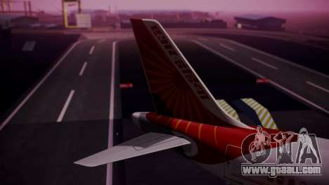 Airbus A319-100 Air India for GTA San Andreas back left view