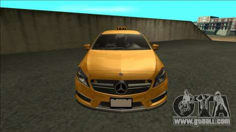 Mercedes-Benz A45 AMG Taxi 2012 for GTA San Andreas right view