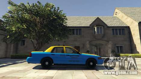GTA 5 Ford Crown Victoria Taxi v1.1 left side view