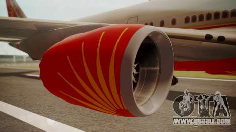 Boeing 747-8I Air India for GTA San Andreas right view