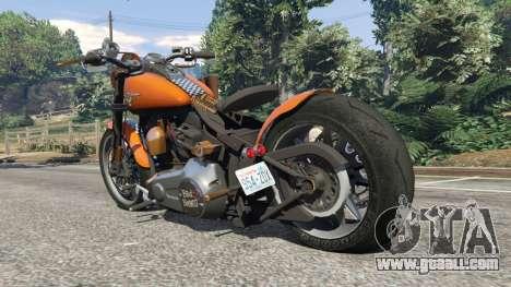 GTA 5 Harley-Davidson Fat Boy Lo Racing Bobber v1.2 rear left side view