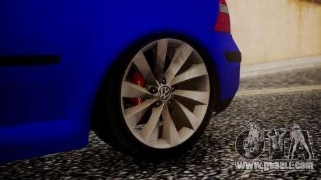 Volkswagen Golf 4 for GTA San Andreas back left view