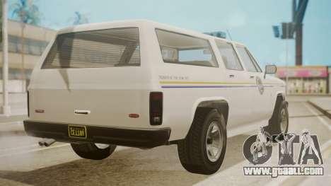 GTA 5 Declasse Rancher XL Police IVF for GTA San Andreas left view