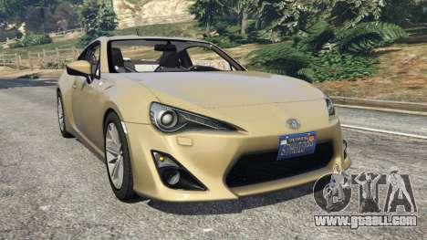 Toyota GT-86 v1.4 for GTA 5