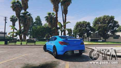 GTA 5 Hyundai Genesis 2013 v0.1 rear left side view